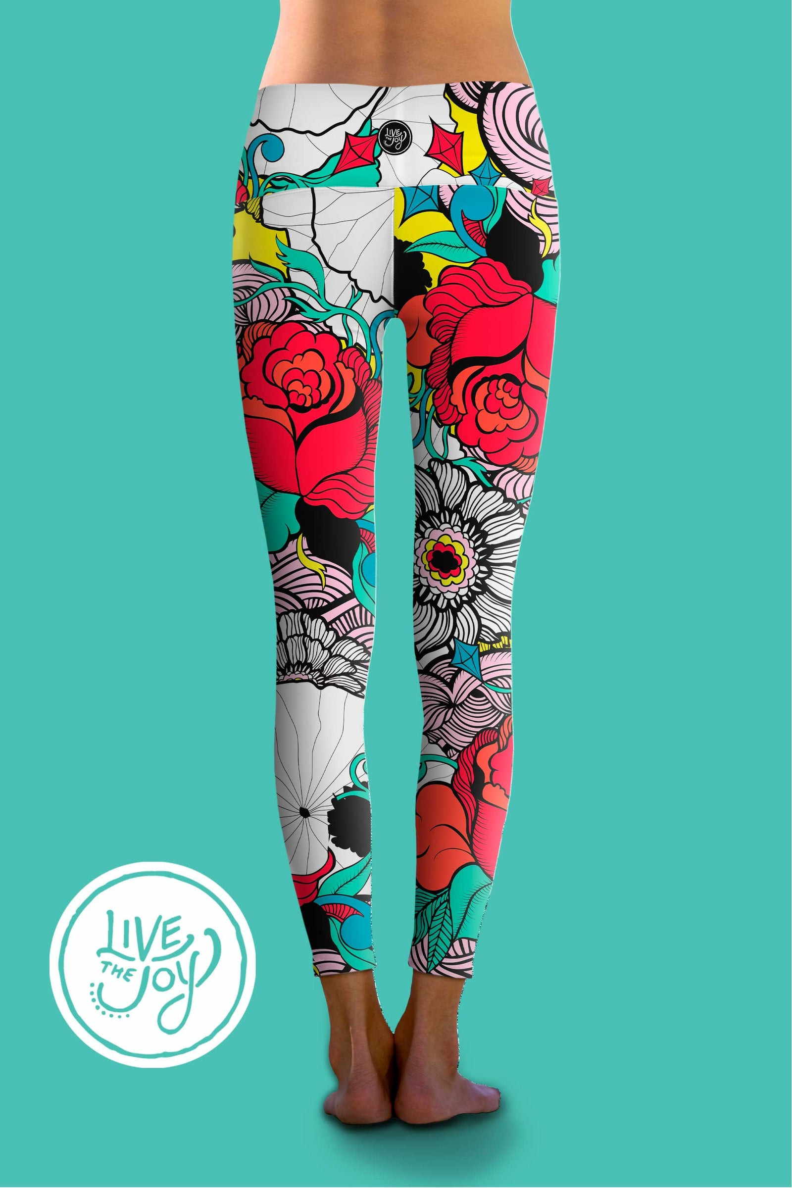 Retro Rose - Eco-Friendly Power Leggings