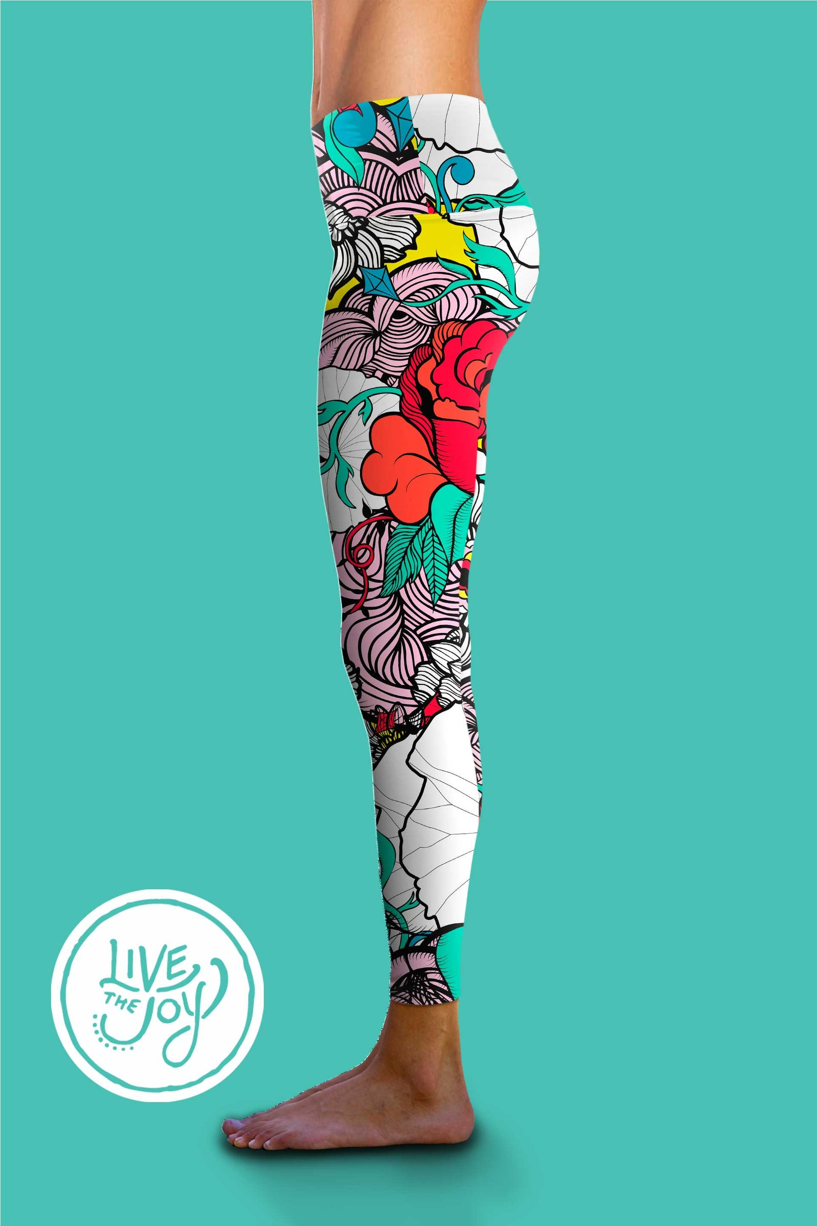 Om Shanti Clothing Retro Rose Yoga Pants - These versatile, high-rise tights were designed to fit like a second skinÌÎ_ÌÎÌà_ÌÎ_ÌÎÌà_‰ۡó»?ÌÎ_ÌÎÌà__ÌÎ_ÌÎÌà_‰ۡó»?å±perfect for yoga or the gym.