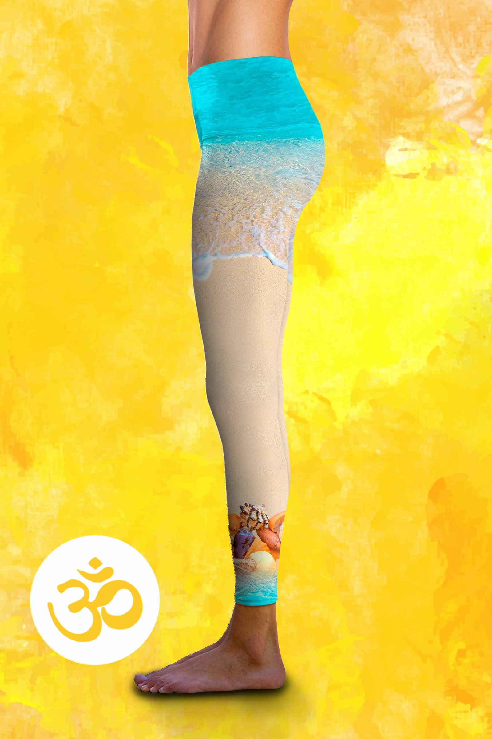 Hearts In The Sand - Eco-Friendly Power Leggings