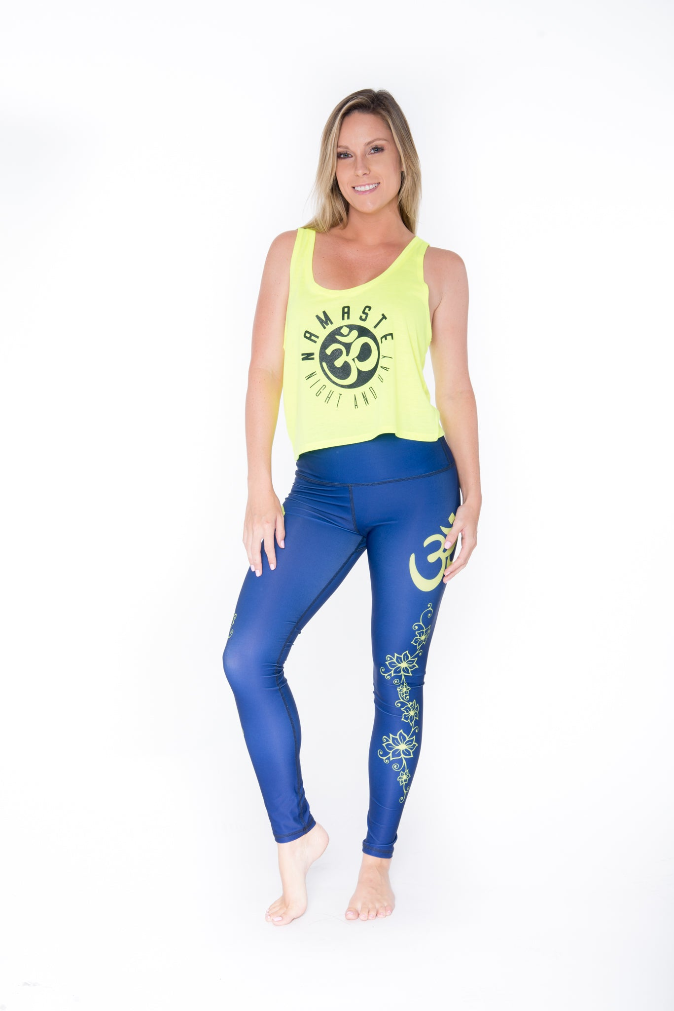 Namaste Night and Day Tank Top - Yellow