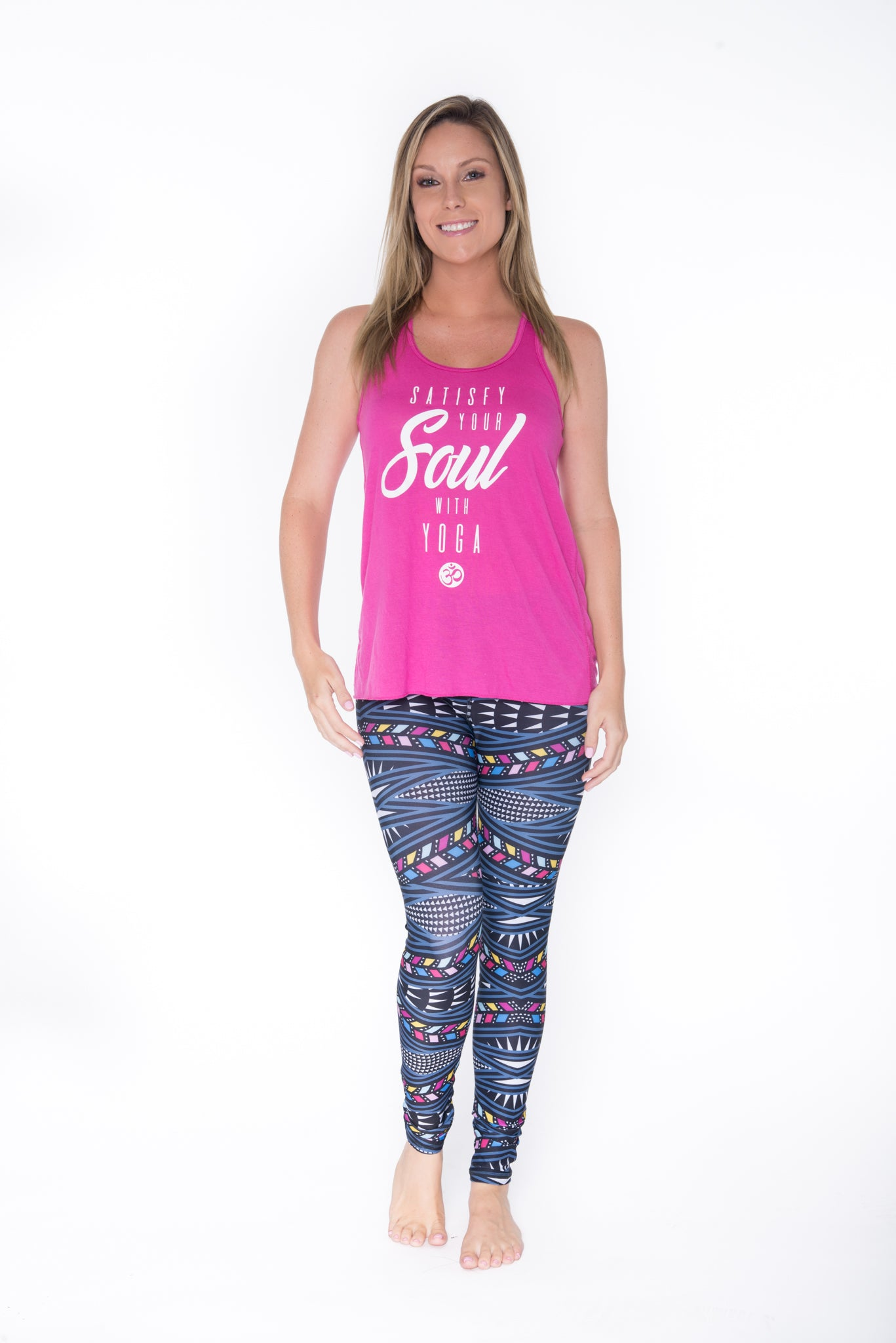 #Satisfying Your Soul Sheer Racer Back Tank Top - Pink