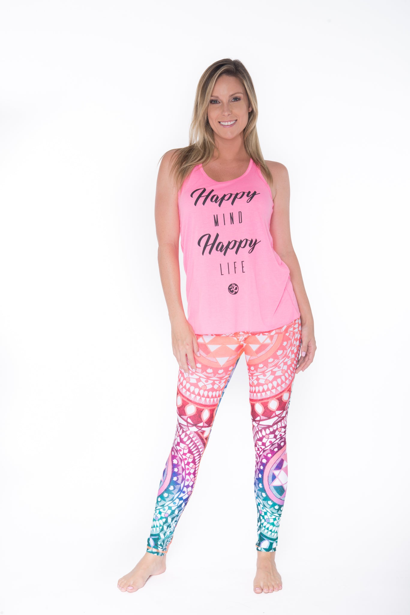 Happy Life Tank Top - Pink