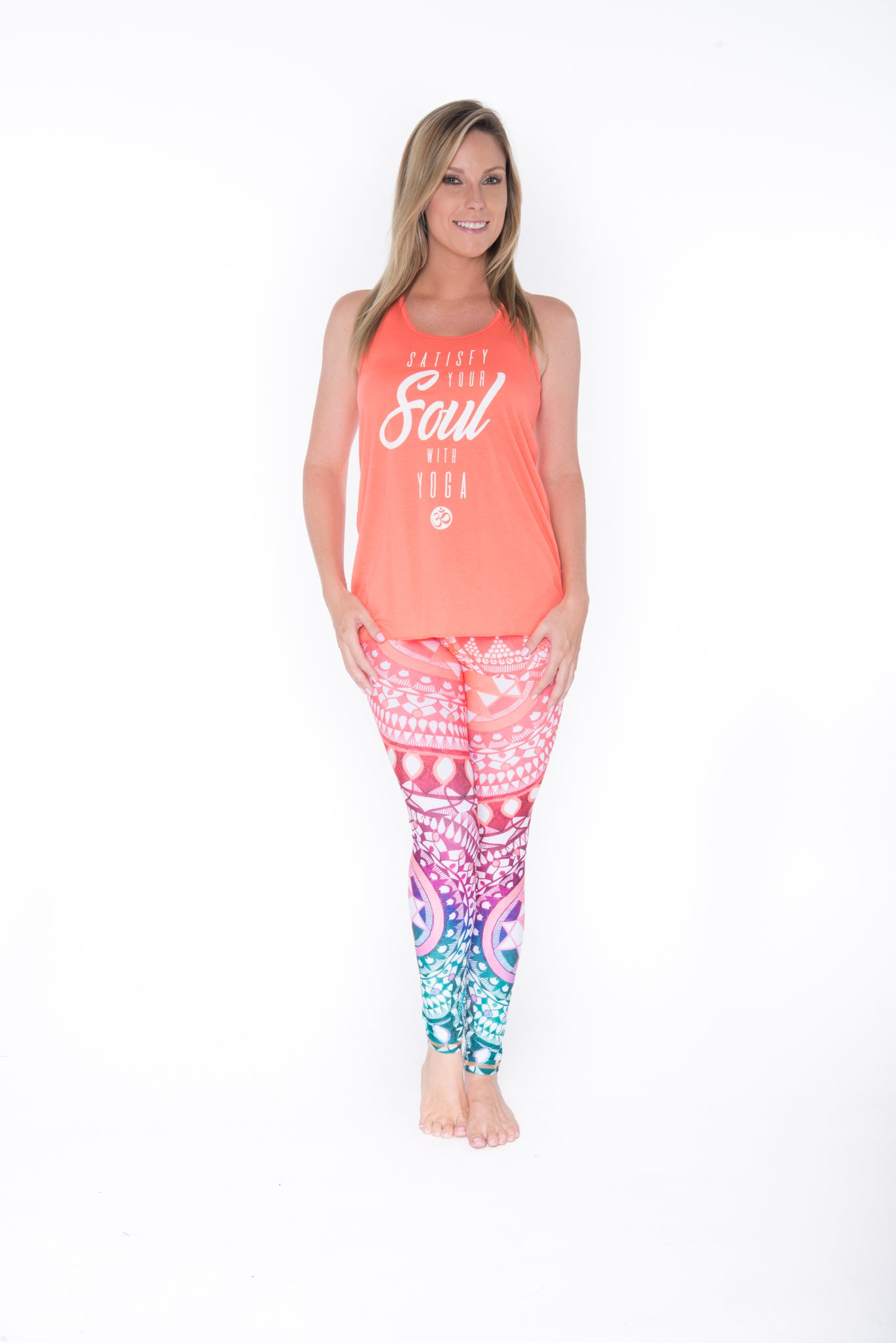 Satisfying Your Soul Sheer Racer Back Tank Top - Coral