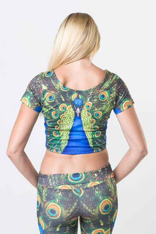 #Peacock Twins - Power Crop Top