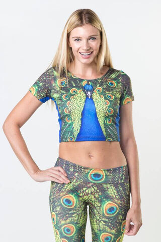#Navy Floral - Power Crop Top