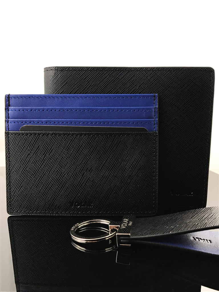 Brabus blue and black leather, makes this bi-fold wallet perfect for any casual or business outfit.