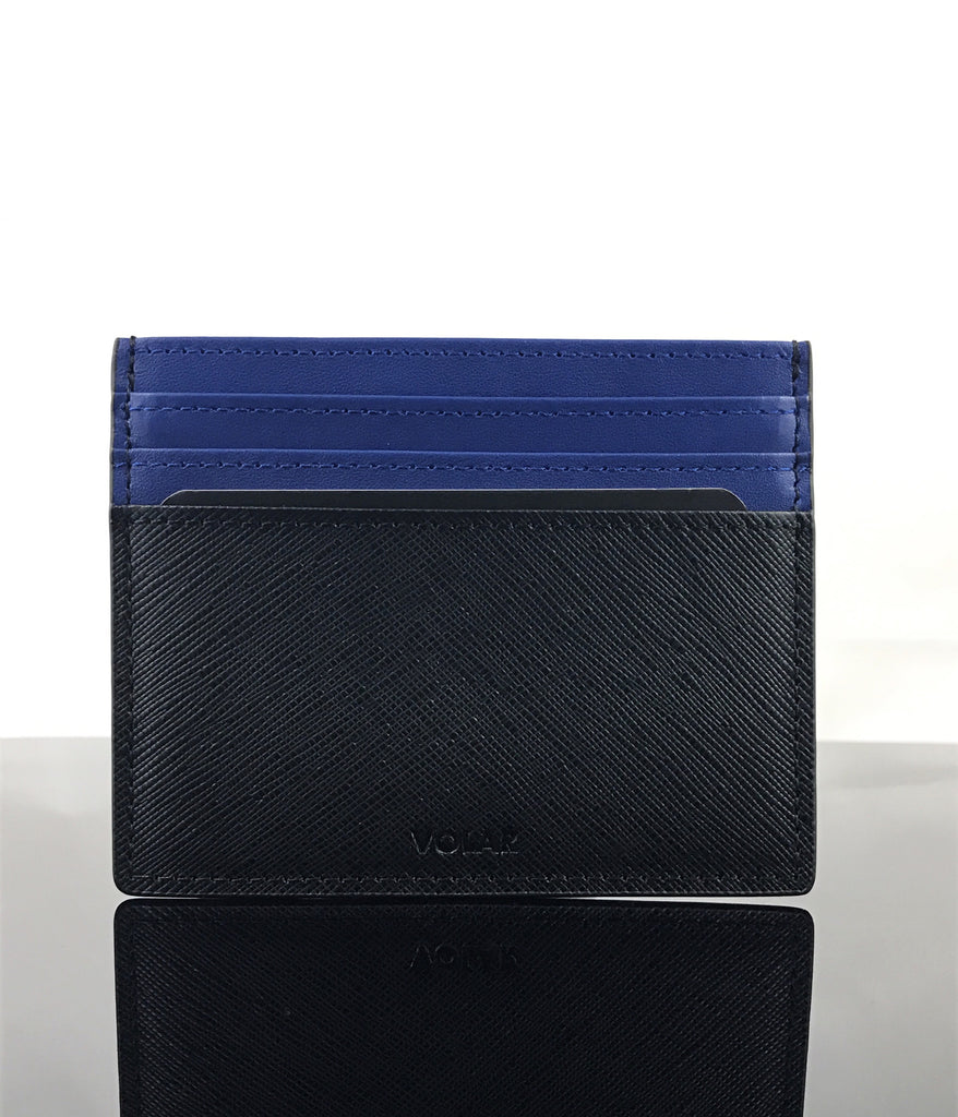 Brabus blue and black leather, makes this cardholder and keychain perfect for any casual or business outfit.
