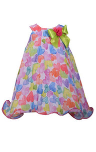 Infant Multi-Color Heart Dress - La Bella Amore' Boutique