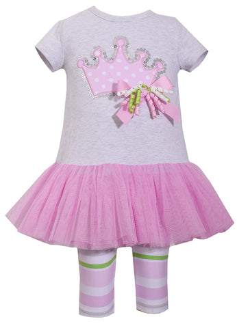 Girls Princess Tutu Birthday Shirt/Pant Set - La Bella Amore' Boutique
