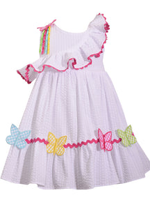 Butterfly Ruffle Dress - La Bella Amore' Boutique