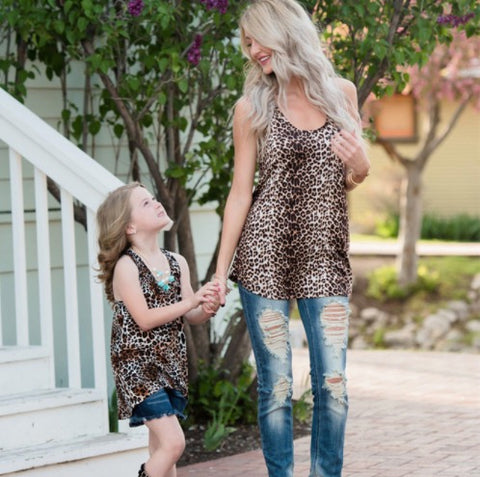 PRE-ORDER Mommy & Me Matching Cheetah Print Tank Tops