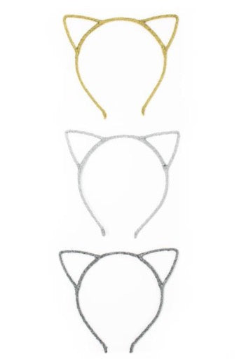 Kitty Cat Ears Headband- Various Colors - La Bella Amore' Boutique
