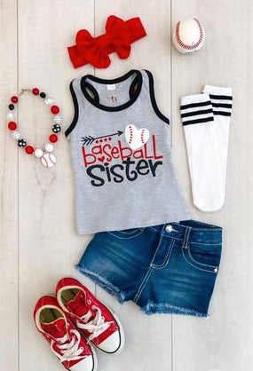 """Baseball Sister"" Tank Top - La Bella Amore' Boutique"