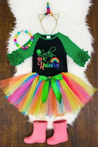 """Lucky Like a Unicorn"" Tutu Set"