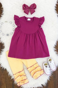 Buttercup Fuschia & Yellow Capri Set - La Bella Amore' Boutique