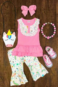 Pink Unicorn Capri Set - La Bella Amore' Boutique