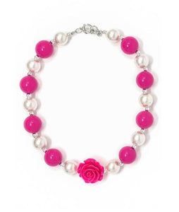 Hot Pink Bubblegum Necklace - La Bella Amore' Boutique