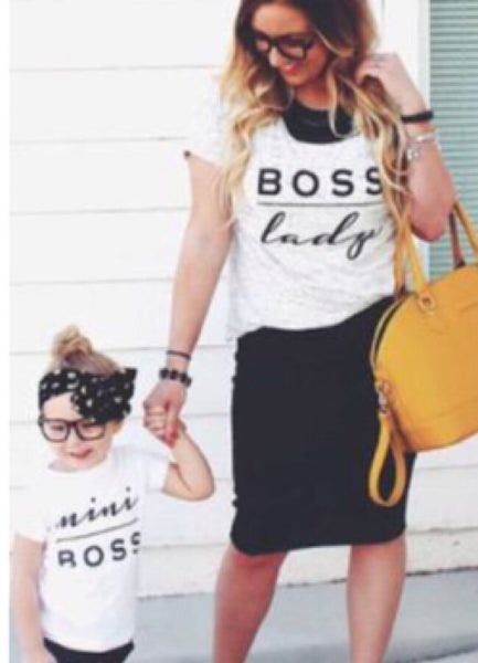 "Mommy & Me ""Boss Lady"" & ""Mini Boss"" T-Shirts"