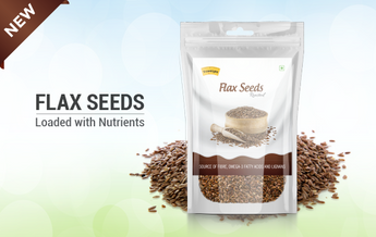 Roasted flaxseeds loaded with nutrients