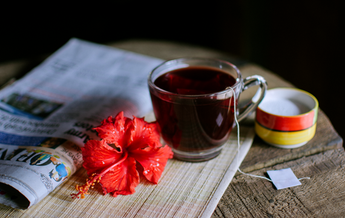 Natural rich in antioxidants Hibiscus tea