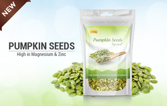 Pumpkin seeds high in magnesium & zinc