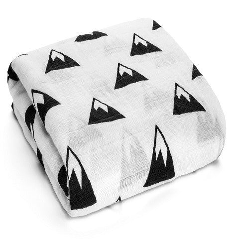 Muslin Swaddle Blanket - Mountains