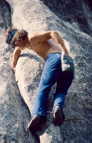 Walter Siebert climbing in Yosemite Valley in 1981.