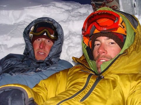 Kevin and Loren hunkered down for the night on the Moose's Tooth. Photo: Loren Rausch