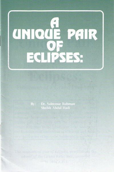 A Unique Pair of Eclipses