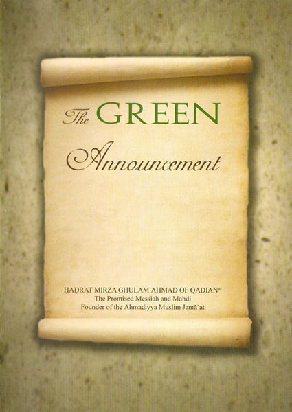 The Green Anouncement