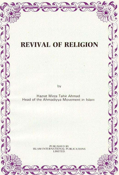 The Philosophy of Revival of Religion