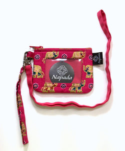 ID Coin Purse with Detachable Wristlet and Lanyard