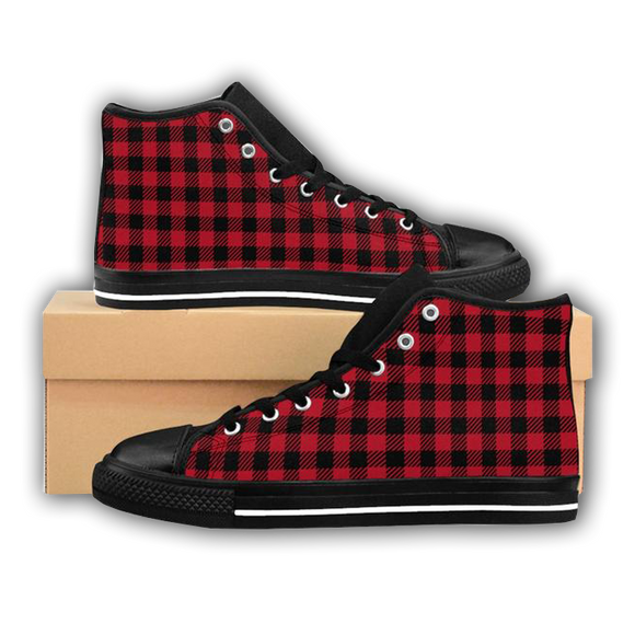 PLAID TO MEET YOU - Women's High-top Sneakers