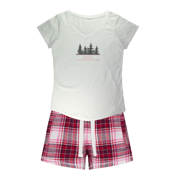 ASCC - Girls Sleepy Tee and Flannel Short