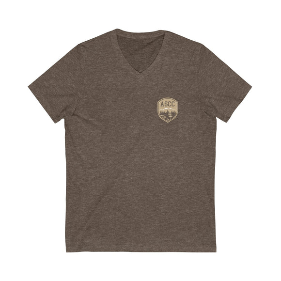 MOUNTAIN CREST - Jersey Short Sleeve V-Neck Tee