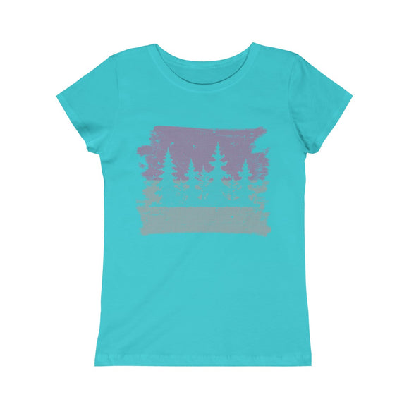 DISTRESSED TREES - Girls Princess Tee