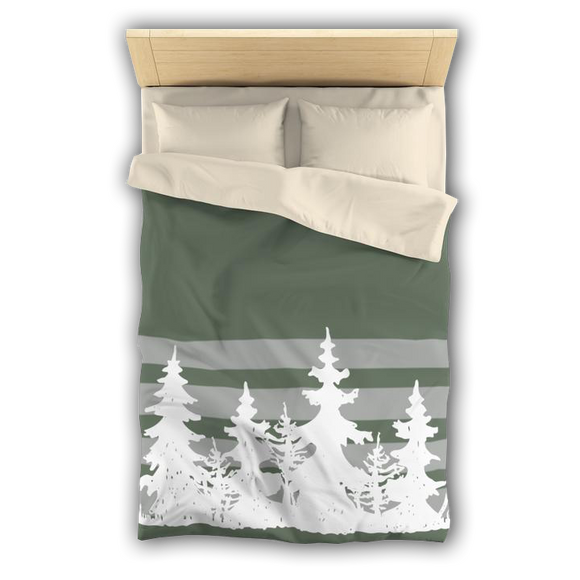 WINTER EVERGREENS - Microfiber Duvet Cover