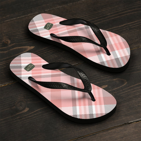 PINK PLAID 19 - Flip-Flops - American Style Clothing Company