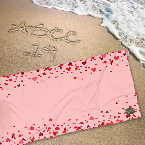 FALLING HEARTS - Beach Towel - American Style Clothing Company