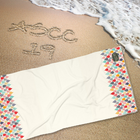 COLORFUL DROPS - Beach Towel - American Style Clothing Company