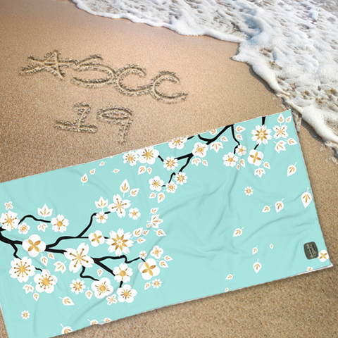 CHERRY BLOSSOMS - Beach Towel - American Style Clothing Company