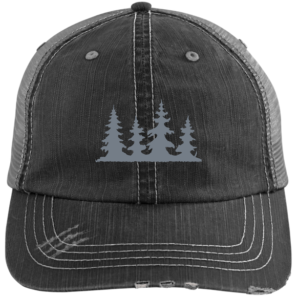TREES - Distressed Unstructured Trucker Cap