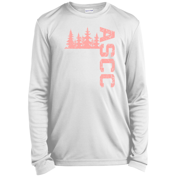 PINK TREE ASCC - Girls Youth LS Moisture-Wicking T-Shirt