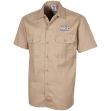 ASCC GREY/WHITE - Dickies Men's Short Sleeve Workshirt - American Style Clothing Company