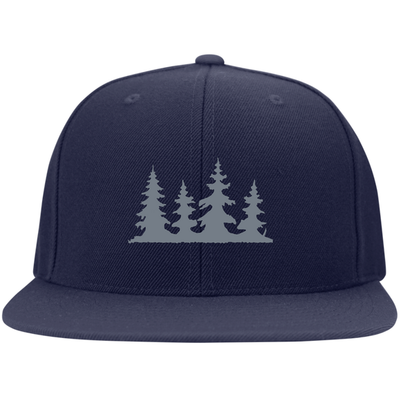 TREES - Flat Bill High-Profile Snapback Hat