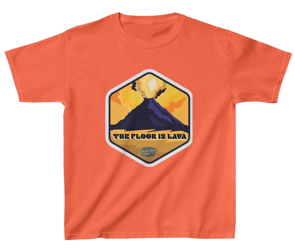 FLOOR IS LAVA - Kids Heavy Cotton™ Tee