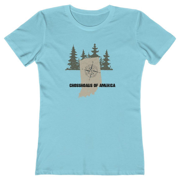 INDIANA CROSSROADS OF AMERICA - Women's The Boyfriend Tee