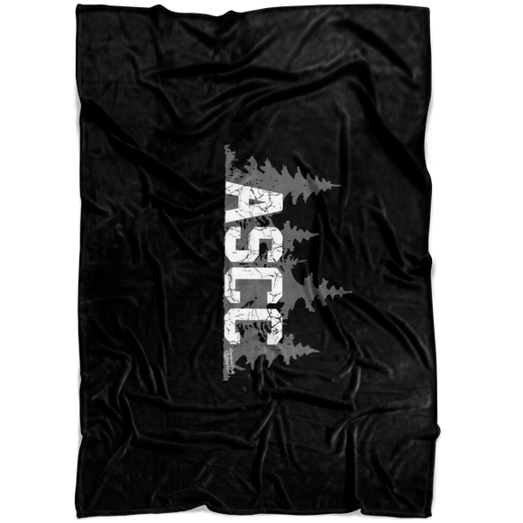 AMERICAN STYLE CLOTHING CO. ASCC BLACK FLEECE BLANKET
