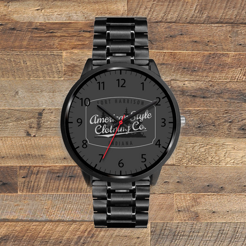 ACSS Wrist Watch (Grey Logo) - American Style Clothing Company