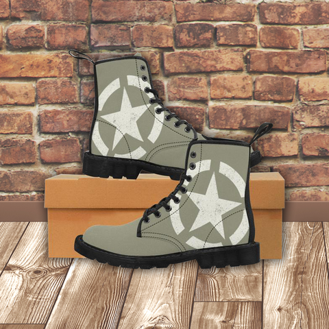 MILITARY STAR - Women's Martin Boots - American Style Clothing Company